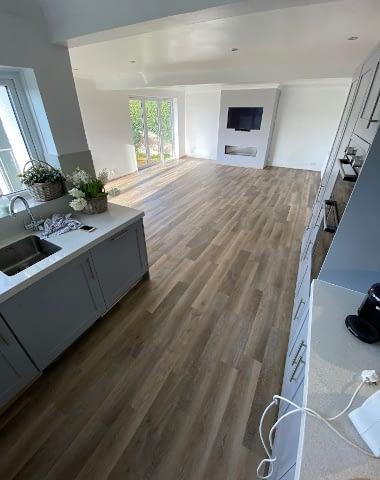 Vinyl flooring kitchen domestic 1